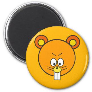 Cunning orange squirrel face 2 inch round magnet