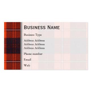 Cunningham clan Plaid Scottish tartan Business Card