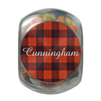 Cunningham clan Plaid Scottish tartan Glass Candy Jars