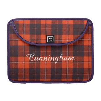 Cunningham clan Plaid Scottish tartan Sleeve For MacBooks
