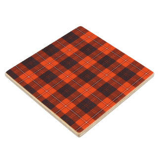 Cunningham clan Plaid Scottish tartan Wooden Coaster