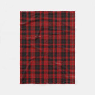 Cunningham Clan Tartan Plaid Fleece Blanket
