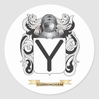 Cunningham Coat of Arms Round Stickers