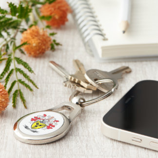 Cunningham Family Crest Coat of Arms Keychain