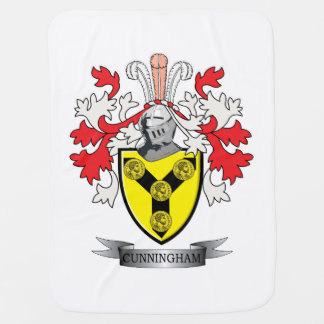 Cunningham Family Crest Coat of Arms Swaddle Blanket