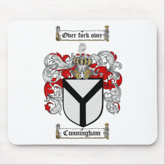 CUNNINGHAM FAMILY CREST -  CUNNINGHAM COAT OF ARMS MOUSE PAD