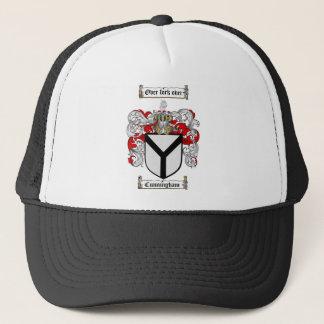 CUNNINGHAM FAMILY CREST -  CUNNINGHAM COAT OF ARMS TRUCKER HAT