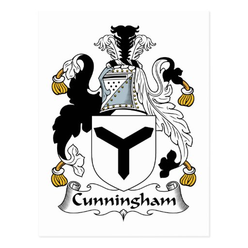 Cunningham Family Crest Postcards