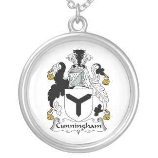 Cunningham Family Crest Round Pendant Necklace