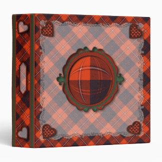 Cunningham Scottish clan tartan 1.5 inch spine Binder
