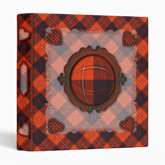 Cunningham Scottish clan tartan 3 Ring Binder