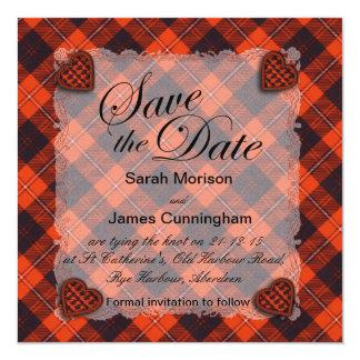 Cunningham Scottish clan tartan - Plaid Card