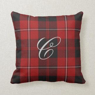 Cunningham Tartan Monogram Pillow