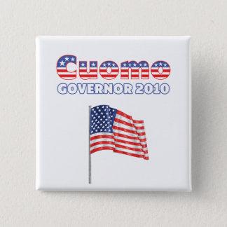 Cuomo Patriotic American Flag 2010 Elections Button