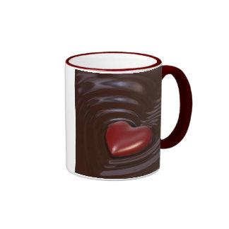 Cuore di cioccolato ringer mug