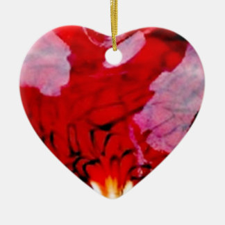 Cuore Double-Sided Heart Ceramic Christmas Ornament