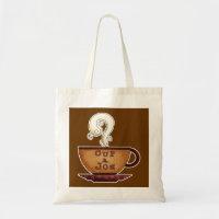 Cup a Joe Small Canvas Tote Bag bag