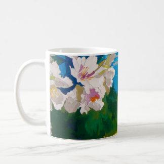 Cup almond tree flower