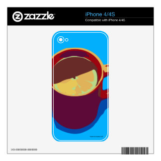 Cup and lemon iPhone 4 skins