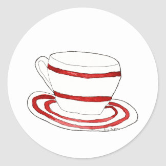 Cup and Saucer Sticker