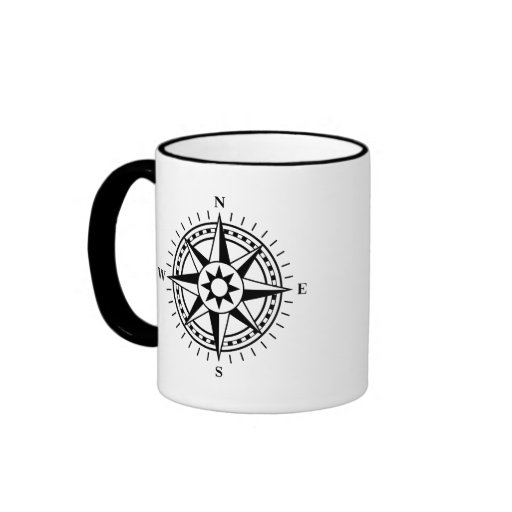 Cup: Black and white compass rose Coffee Mug