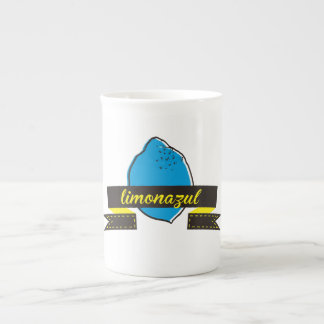 cup blue lemon logo porcelain mug