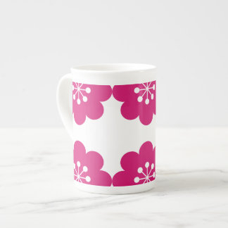 Cup Bone Customized China with Pink Flowers