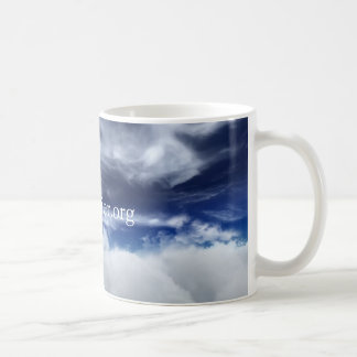 Cup bottom sky clouds