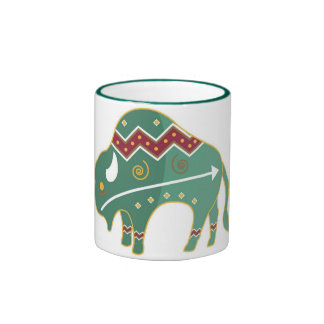 Cup Buffalo Native American Ringer Coffee Mug