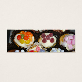 Cup Cake Bookmark Business Cards