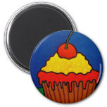 Cup Cake by Piliero 2 Inch Round Magnet