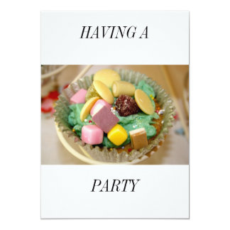 Cup Cake Having a Party Card