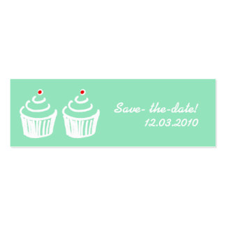 Cup cake love business card templates