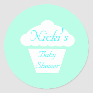 Cup Cake Muffin Baby shower Classic Round Sticker