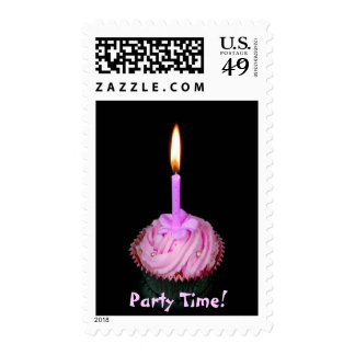 Cup cake, Party Time! Postage Stamp
