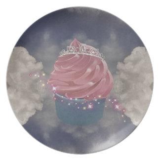 cup cake Princess Melamine Plate