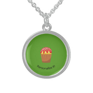 Cup Cake Sterling Silver Necklace