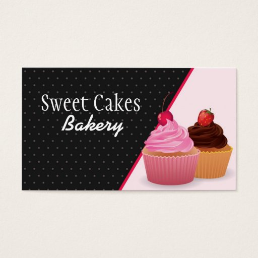 Cup Cakes Bakery Sweet Treats Business Card