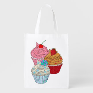 Cup Cakes Reusable Grocery Bag