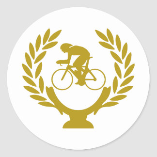 Cup-crown-cycling Classic Round Sticker