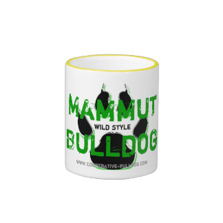 Cup (cup) of giant Bulldog Ringer Coffee Mug