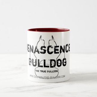 Cup (cup) of Renascence Bulldog Two-Tone Coffee Mug