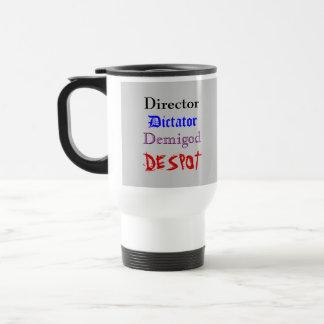 Cup de director taza de viaje de acero inoxidable