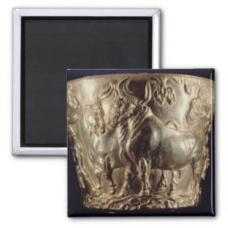 Cup, depicting a domestic bull 2 inch square magnet