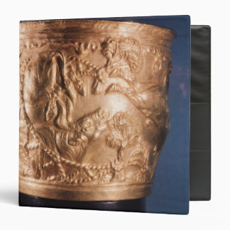 Cup, depicting the capture of a wild bull binder