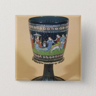 Cup depicting the Triumph of Justice Pinback Button
