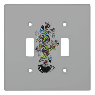 Cup Floral Custom Double Toggle Light Switch Cover