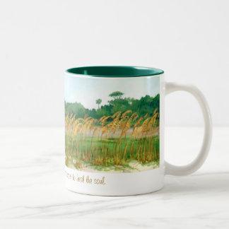 Cup for a long walk. Two-Tone coffee mug