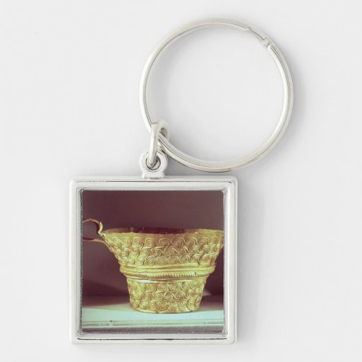 Cup found in a tholos tomb at Peristeria Keychain