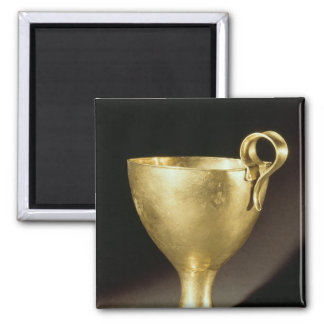 Cup from Shaft Grave IV, Mycenae 2 Inch Square Magnet